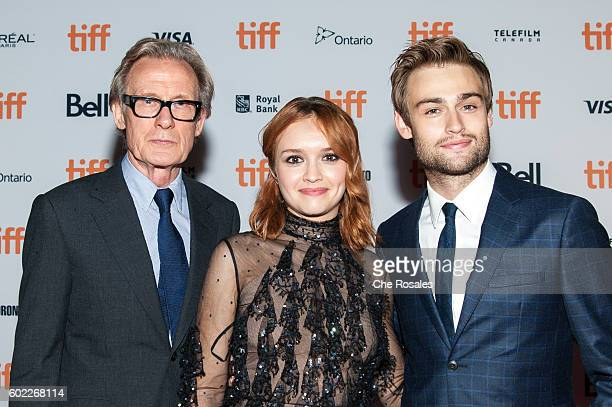 Actors Bill Nighy Olivia Cooke and Douglas Booth attend the Premier of 'The Limehouse Golem' at Ryerson Theatre on September 10 2016 in Toronto Canada