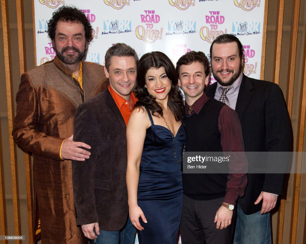 Actors Bill Nolte, James Beaman, Sarah Stiles, Keith Gerchak and Bruce Warren attend the Off-Broadway opening night of 'The Road to Qatar' at The York Theatre at Saint Peter's on February 3, 2011 in New York City.