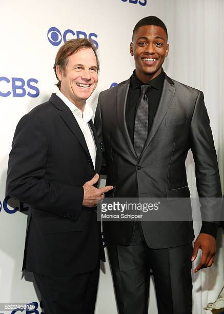 Actors Bill Paxton and Justin Cornwell of CBS television series Training Day attend the 2016 CBS Upfront at Oak Room on May 18 2016 in New York City