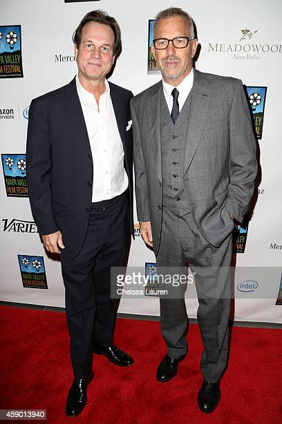 Actors Bill Paxton and Kevin Costner attend MercedesBenz arrivals at Napa Valley Film Festival celebrity tribute night on November 14 2014 in Napa...