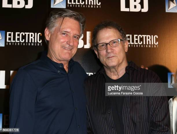 Actors Bill Pullman and Albert Brooks attend the premiere of Electric Entertainment's LBJ at ArcLight Hollywood on October 24 2017 in Hollywood...