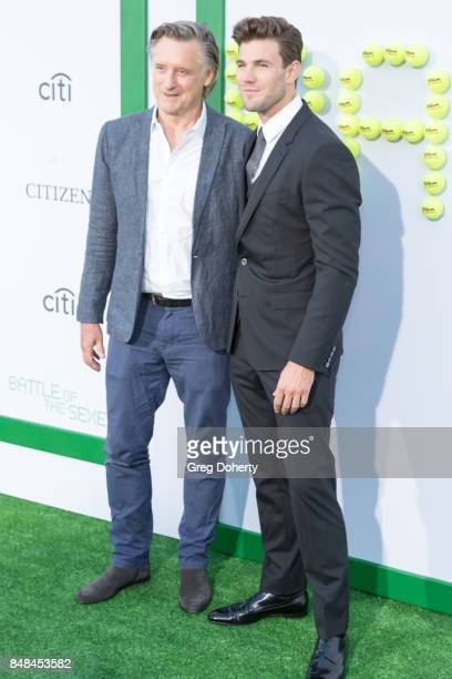 Actors Bill Pullman and Austin Stowell arrive for the Premiere Of Fox Searchlight Pictures' Battle Of The Sexes at Regency Village Theatre on...