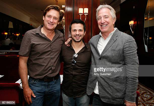 """Actors Bill Pullman, Freddy Rodriguez and Alan Rickman attend a luncheon to celebrate Freestyle Releasing's """"Bottle Shock"""" at Brasserie Ruhlmann on..."""