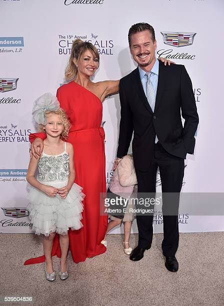 Actors Billie Beatrice Dane Rebecca Gayheart Georgia Dane and Eric Dane attend the 15th Annual Chrysalis Butterfly Ball at a Private Residence on...