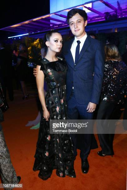 Actors Billie Lourd and Austen Rydell attend 2018 LACMA Art + Film Gala honoring Catherine Opie and Guillermo del Toro presented by Gucci at LACMA on...