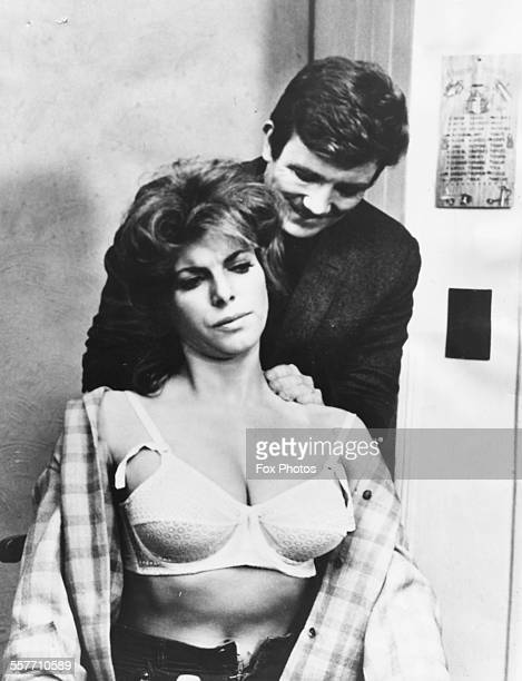 Actors Billie Whitelaw and Albert Finney filming a scene from the movie 'Charlie Bubbles' in Manchester March 2nd 1967