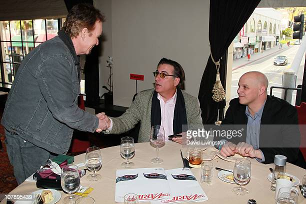 Actors Billy Bob Thornton and Andy Garcia with executive producer Joey Rappa attend a reception at the The Hollywood Roosevelt Hotel following Robert...