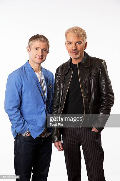 Actors Billy Bob Thornton and Martin Freeman are photographed for USA Today on April 10 2014 in New York City