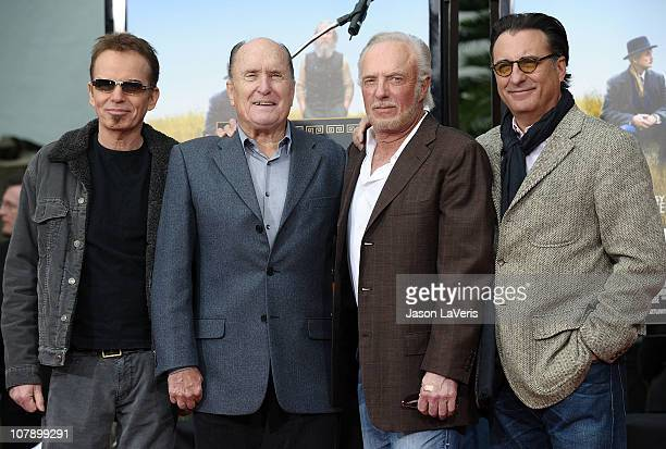 Actors Billy Bob Thornton Robert Duvall James Caan and Andy Garcia attend Duvall's hand and footprint ceremony at Grauman's Chinese Theatre on...