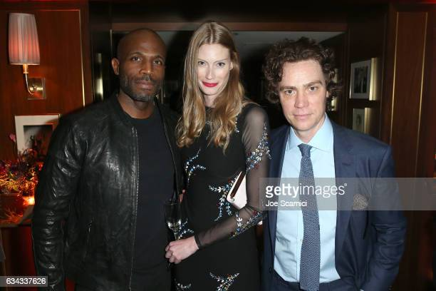 Actors Billy Brown and Alyssa Sutherland and editorinchief of Esquire Jay Fielden attend Esquire's celebration of March cover star James Corden and...