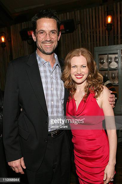 Actors Billy Campbell and Mireille Enos attend AMC's The Killing Premiere at Harmony Gold Theatre on March 21 2011 in Los Angeles California