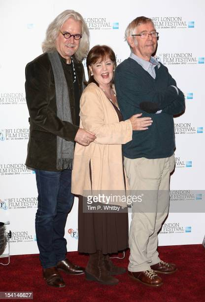 Actors Billy Connolly Pauline Collins and Tom Courtenay attend the Quartet photocall during the BFI London Film Festival at the Empire Leicester...