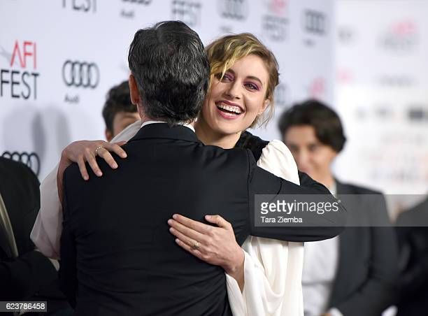 Actors Billy Crudup and Greta Gerwig attend a tribute to Annette Bening and gala screening of A24's 20th Century Women at AFI Fest 2016 presented by...