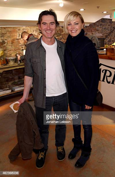 Actors Billy Crudup and Malin Akerman attend The Variety Studio At Sundance Presented By Dockers Day 4 on January 27 2015 in Park City Utah
