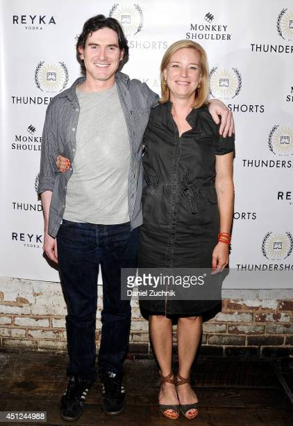 Actors Billy Crudup and Zandy Hartig attend the Thundershorts launch event at The Box on June 25 2014 in New York City