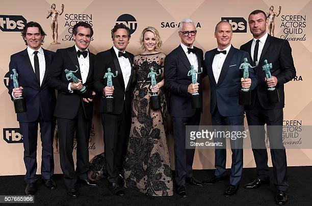 Actors Billy Crudup Brian d'arcy James Mark Ruffalo Rachel McAdams John Slattery Michael Keaton and Liev Schreiber winners of the award for...