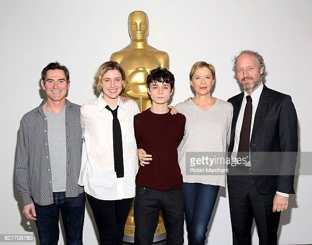 Actors Billy Crudup Greta Gerwig Lucas Jade Zumann Annette Bening and director Mike Mills attend The Academy of Motion Picture Arts and Sciences...