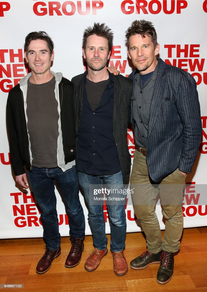 Actors Billy Crudup, Josh Hamilton and Ethan Hawke attend 'All The Fine Boys' Opening Night on March 1, 2017 in New York City.