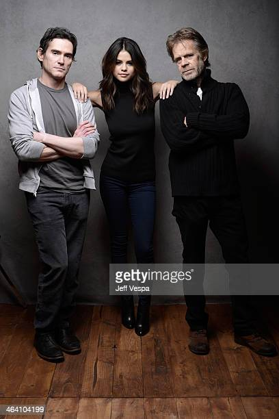 Actors Billy Crudup, Selena Gomez, and William H. Macy pose for a portrait during the 2014 Sundance Film Festival at the WireImage Portrait Studio at...