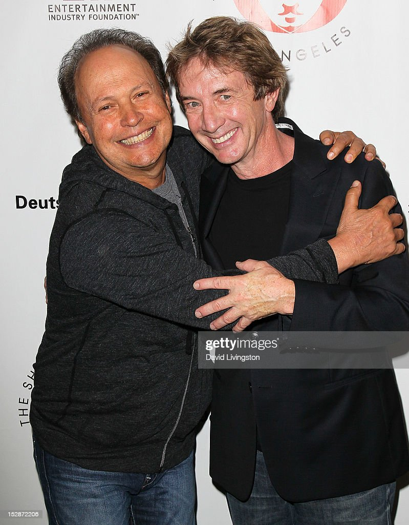 Actors Billy Crystal (L) and Martin Short attend the Shakespeare Center of Los Angeles' 22nd Annual 'Simply Shakespeare' at the Freud Playhouse, UCLA on September 27, 2012 in Westwood, California.