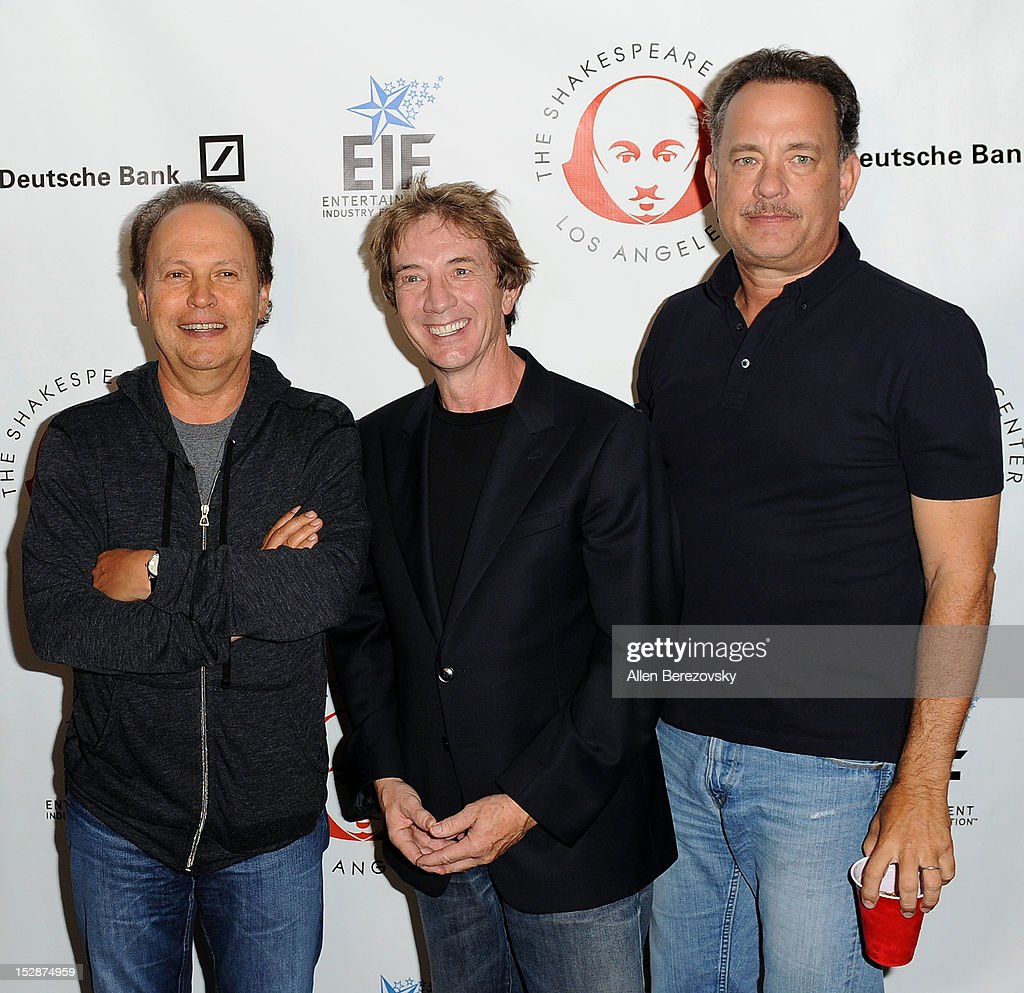 Actors Billy Crystal, Martin Short and Tom Hanks attend the Shakespeare Center of Los Angeles' 22nd annual 'Simply Shakespeare' reading of 'A Midsummer Night's Dream' at Freud Playhouse, UCLA on September 27, 2012 in Westwood, California.