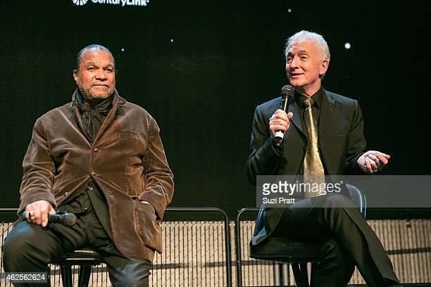 Actors Billy Dee Williams and Anthony Daniels speak at Star Wars and the Power of Costume opening exhibit at EMP Museum at Seattle Center on January...