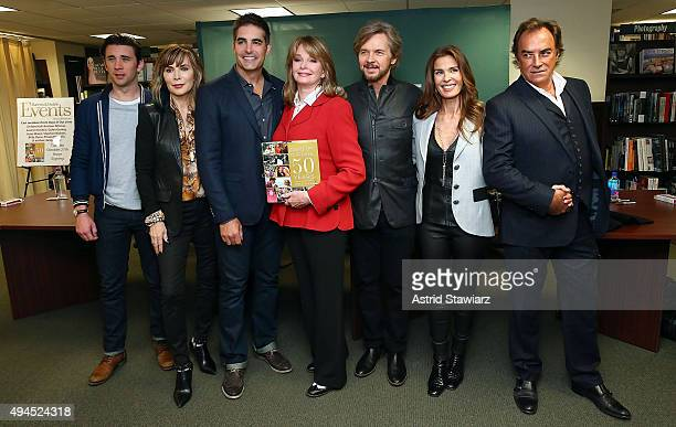 Actors Billy Flynn Lauren Koslow Galen Gering Deidre Hall Stephen Nichols Kristian Alfonso and Thaao Penghlis attend Days Of Our Lives book signing...
