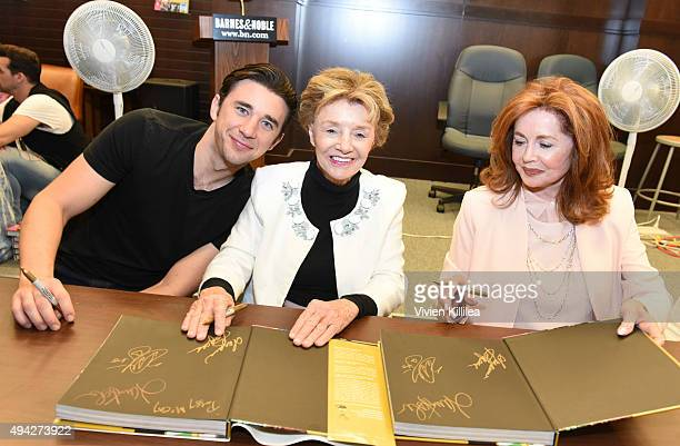 Actors Billy Flynn Peggy McCay and Suzanne Rogers attend the Days of Our Lives book signing at Barnes and Noble at The Grove on October 25 2015 in...