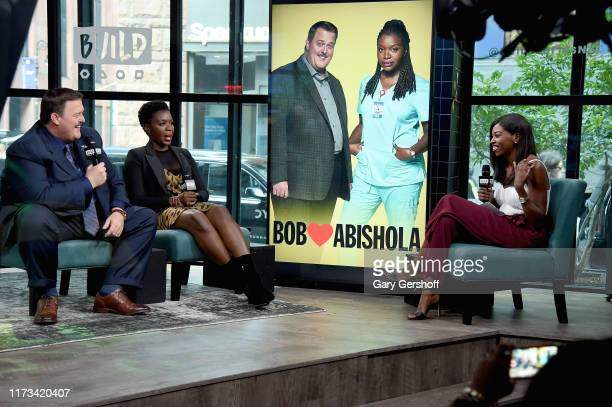 """Actors Billy Gardell and Folake Olowofoyeku visit the Build Series with host to Brittany JonesCooper discuss the CBS series """"Bob Hearts Abishola""""at..."""