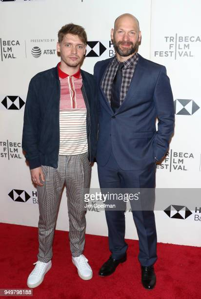 Actors Billy Howle and Corey Stoll attend the premiere of 'The Seagull' during the 2018 Tribeca Film Festival at BMCC Tribeca PAC on April 21 2018 in...