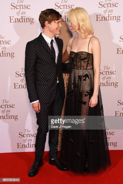 Actors Billy Howle and Freya Mavor attend 'The Sense of an Ending' UK gala screening on April 6 2017 in London United Kingdom