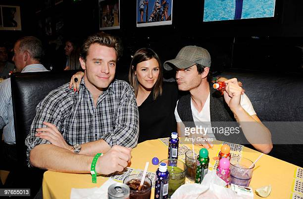 Actors Billy Miller, Elizabeth Hendrickson and Greg Rikaart attend the Painted Turtle 7th Annual Bingo Night at the Roxy at The Roxy Theatre on March...