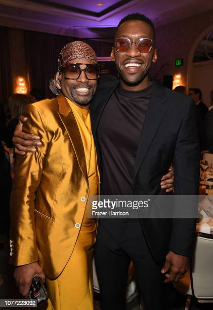Actors Billy Porter and Mahershala Ali attend the 19th Annual AFI Awards at Four Seasons Hotel Los Angeles at Beverly Hills on January 4 2019 in Los...