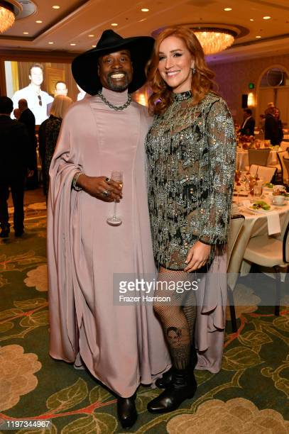 Actors Billy Porter and Our Lady J attend the 20th Annual AFI Awards at Four Seasons Hotel Los Angeles at Beverly Hills on January 03, 2020 in Los...