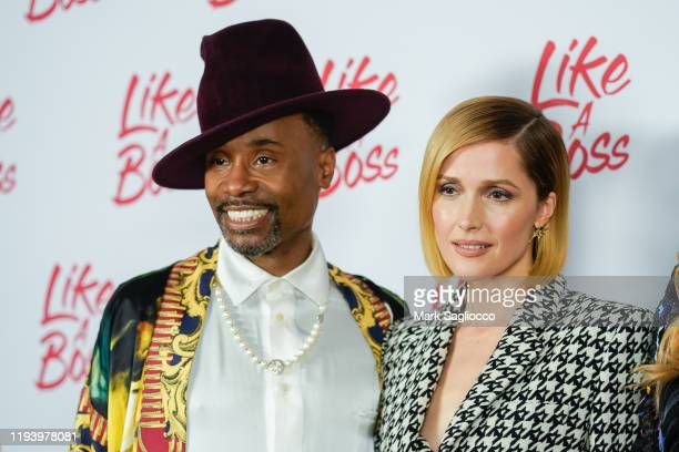 Actors Billy Porter and Rose Byrne attend the Like A Boss Photo Call at the Whitby Hotel on December 14 2019 in New York City