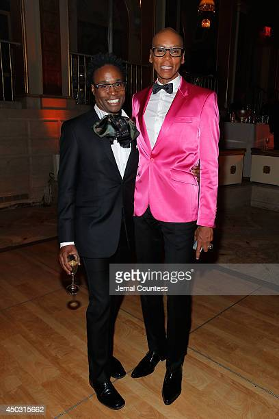 Actors Billy Porter and RuPaul attend the 68th Annual Tony Awards Gala at The Plaza Hotel on June 8 2014 in New York City