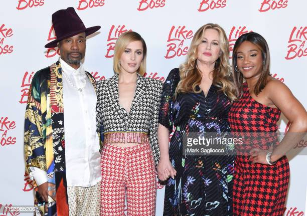 Actors Billy Porter Rose Byrne Jennifer Coolidge and Tiffany Haddish attend the Like A Boss Photo Call at the Whitby Hotel on December 14 2019 in New...