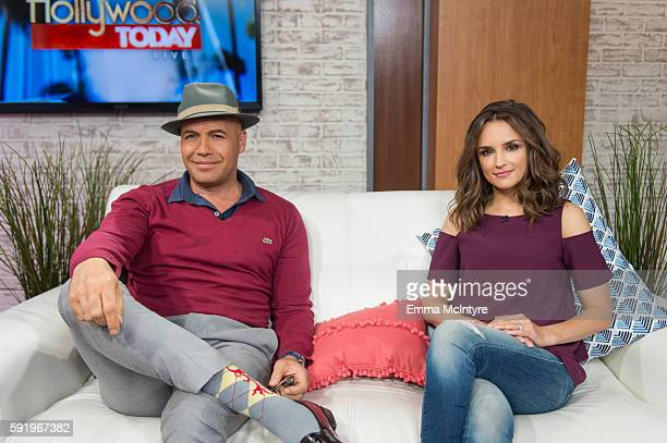 Actors Billy Zane and Rachel Leigh Cook attend 'Rachel Leigh Cook and Billy Zane Visit Hollywood Today Live' at W Hollywood on August 19 2016 in...