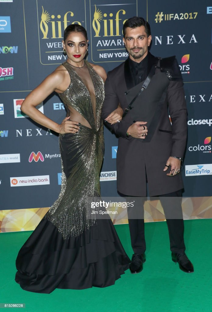 Actors Bipasha Basu and Karan Singh Grover attend the 2017 International Indian Film Academy Festival at MetLife Stadium on July 14 2017 in East...