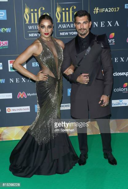 Actors Bipasha Basu and Karan Singh Grover attend the 2017 International Indian Film Academy Festival at MetLife Stadium on July 14, 2017 in East...