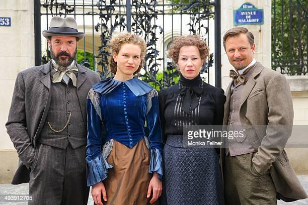 Actors Birgit Minichmayr as Bertha von Suttner Sebastian Koch as Alfred Nobel Philipp Hochmair as Arthur von Suttner and Yohanna Schwertfeger as...
