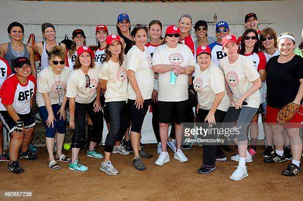 Actors Bitty Schram Patti Pelton Anne Ramsay Tracy Reiner Penny Marshal Megan Cavanagh and Ann Cusack attends 'A League Of Their Own' Reunion...