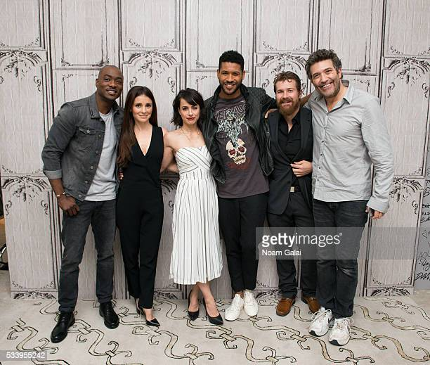 Actors BJ Britt Shiri Appleby Constance Zimmer Jeffrey BowyerChapman Josh Kelly and Craig Bierko visit AOL Build to discuss 'UnREAL' at AOL Studios...
