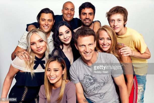 Actors Blair Redford, Coby Bell, Sean Teale and Percy Hynes-White. Actors Natalie Alyn Lind, Jamie Chung, Emma Dumont, Stephen Moyer and Amy Acker of...