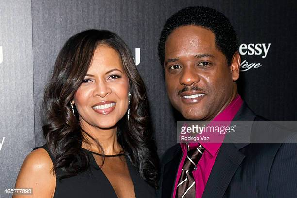 Actors Blair Underwood and Desiree DaCosta attend as LL COOL J hosts a PreGrammy Awards Dinner at The Bazaar at the SLS Hotel Beverly Hills on...