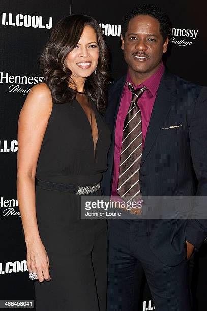 Actors Blair Underwood and Desiree DaCosta attend LL Cool J's third annual PreGrammy Awards Dinner at The Bazaar at the SLS Hotel Beverly Hills on...