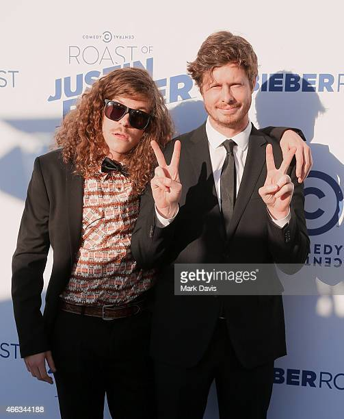 Actors Blake Anderson and Anders Holm attend The Comedy Central Roast of Justin Bieber at Sony Pictures Studios on March 14 2015 in Los Angeles...