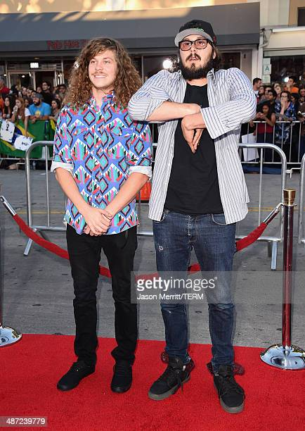 Actors Blake Anderson and Kyle Newacheck attend Universal Pictures' Neighbors premiere at Regency Village Theatre on April 28 2014 in Westwood...