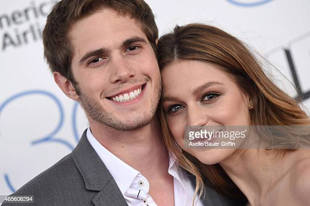 Actors Blake Jenner and Melissa Benoist arrive at the 2015 Film Independent Spirit Awards on February 21 2015 in Santa Monica California