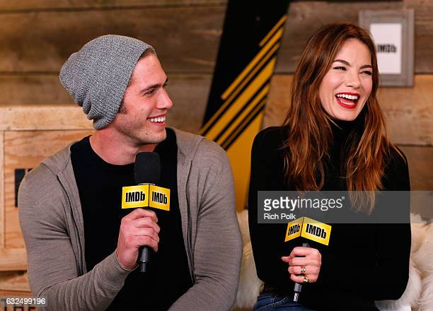 Actors Blake Jenner and Michelle Monaghan of 'Sidney Hall' attend The IMDb Studio featuring the Filmmaker Discovery Lounge presented by Amazon Video...